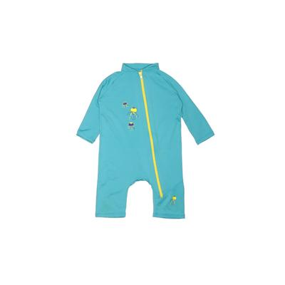 Sun Protection Zone Wetsuit: Blue Solid Sporting & Activewear - Size 18-24 Month