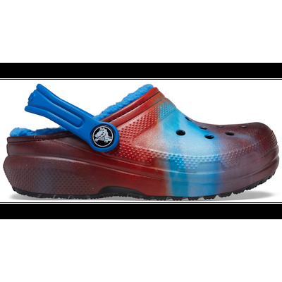 Crocs Bright Cobalt Kids' Classic Lined Out Of This World Clog Shoes