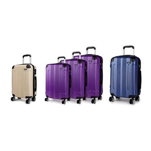 Reisekoffer: 3er-Set Koffer/Lila