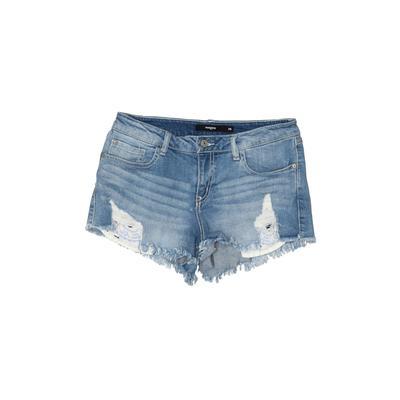 Harper Denim Shorts: Blue Solid ...