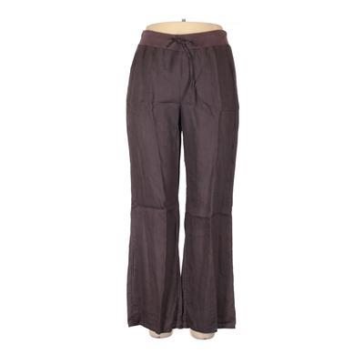 Blue Saks Fifth Avenue Linen Pants - High Rise: Gray Bottoms - Size Large