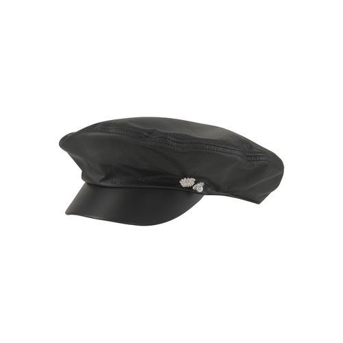 Seeberger Schirmmütze, Leder-Elbsegler schwarz Damen Schirmmütze