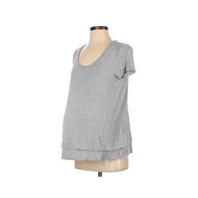 Old Navy - Maternity Short Sleeve T-Shirt: Gray Tops - Size Small Maternity