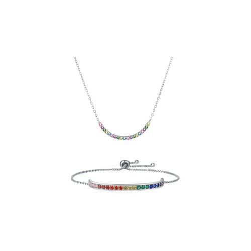 Halskette oder Armband mit Swarovski®-Kristallen: 2x Halskette