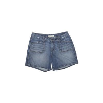 Level 99 Denim Shorts: Blue Soli...