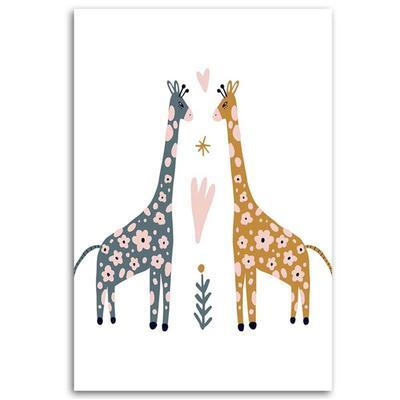 Tableau enfant colorful giraffe ...