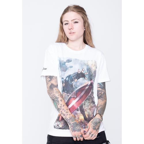 Captain America - Captain America White - - T-Shirts
