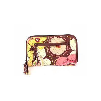 Vera Bradley Wristlet: Brown Color Block Bags