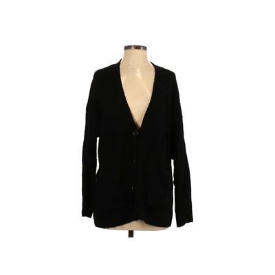 Arpeggio Knitwear Cardigan Sweater: Black Solid Sweaters & Sweatshirts - Size Small