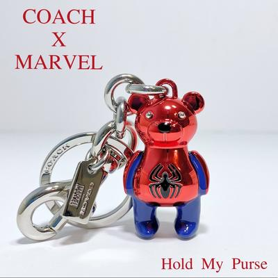 Coach Accessories | Coach Marvel Spider-Man Keychain Bag Charm Nwt | Color: Blue/Red | Size: Os