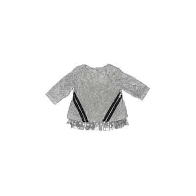 Pippa & Julie Pullover Sweater: Gray Tops – Size 2Toddler