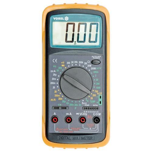 VOREL Digitalmultimeter mit Temperaturmessung