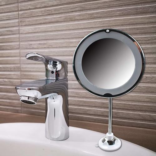 MESA LIVING Flexibler Spiegel mit LED-Leuchte
