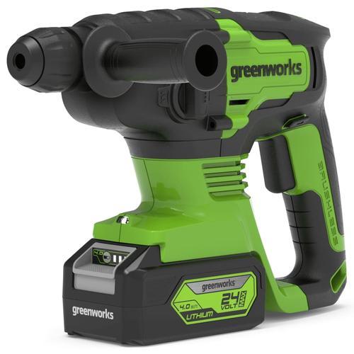 Greenworks 4-in-1 Bohrhammer Bürstenlos 24 V 2 J