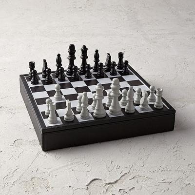Leather Box Chess Set - Frontgate
