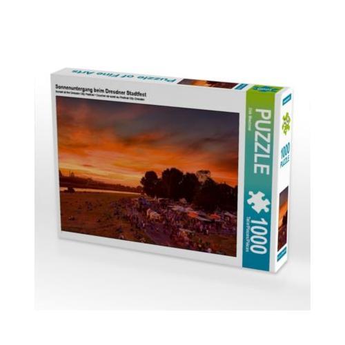 Sonnenuntergang beim Dresdner Stadtfest Foto-Puzzle Bild von Dirk Meutzner Puzzle