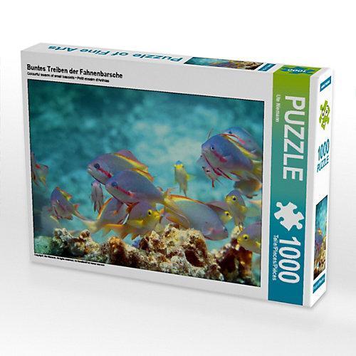 Buntes Treiben der Fahnenbarsche Foto-Puzzle Bild von Ute Niemann Puzzle