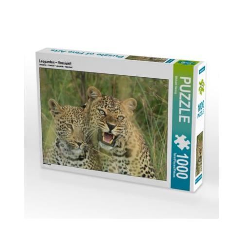 Leoparden – Vorsicht! Foto-Puzzle Bild von Michael Herzog Puzzle