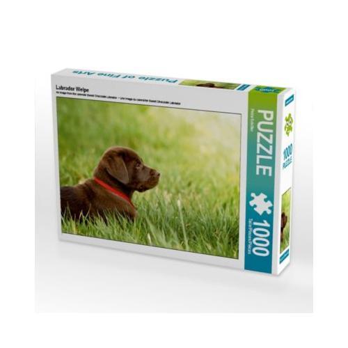 Labrador Welpe Foto-Puzzle Bild von Petra Schiller Puzzle