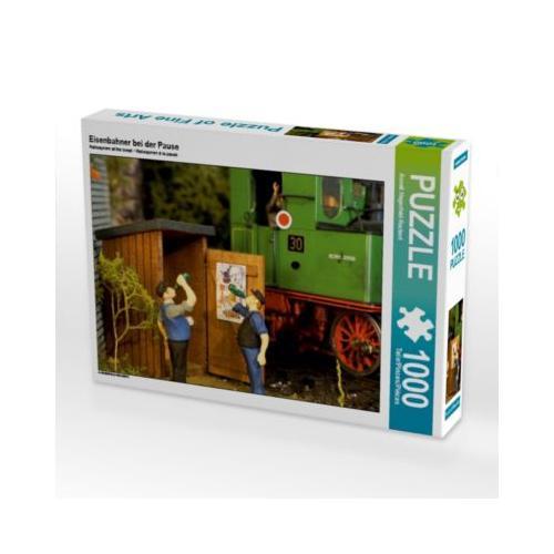 Eisenbahner bei der Pause Foto-Puzzle Bild von Anneli Hegerfeld-Reckert Puzzle