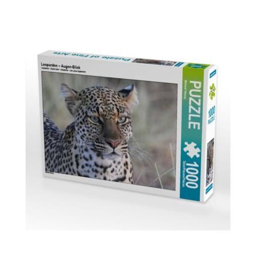 Leoparden – Augen-Blick Foto-Puzzle Bild von Michael Herzog Puzzle