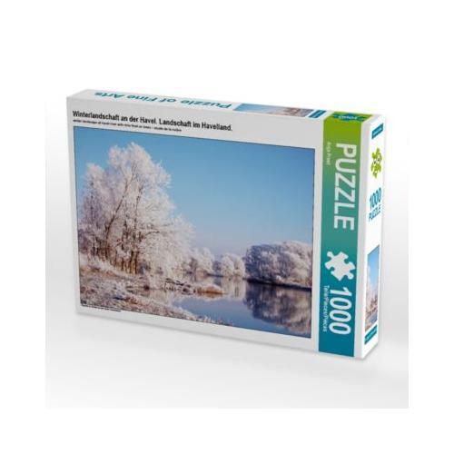 Winterlandschaft an der Havel. Landschaft im Havelland. Foto-Puzzle Bild von Anja Frost Puzzle