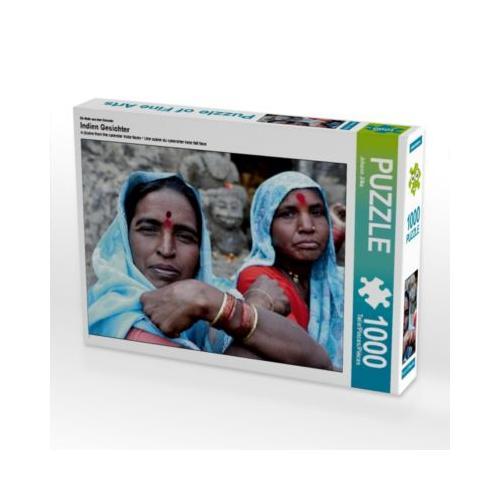 Indien Gesichter Foto-Puzzle Bild von Johann Jilka Puzzle