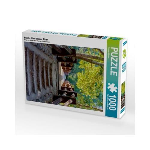 Brücke über Merced River Foto-Puzzle Bild von TomKli Puzzle