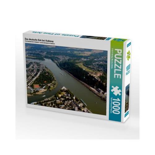Das deutsche Eck bei Koblenz Foto-Puzzle Bild von Monika Müller Puzzle