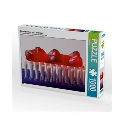Gummibärchen auf Zahnbürste Foto-Puzzle Bild von Hans Seidl Puzzle