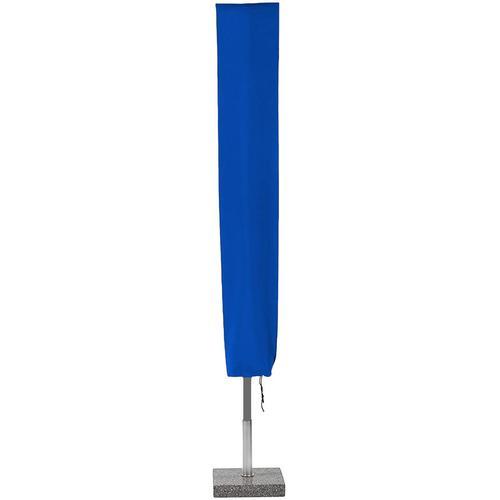 Planesium Abdeckplane für Sonnenschirm Blau 250cm x Ø 40cm Hülle Abdeckung Schutzhülle Haube Ampelschirm