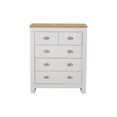 Country-Style Bedroom Furniture: Five-Drawer Chest/Grey