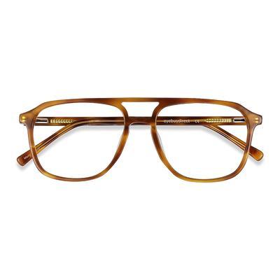 Unisex Aviator Light Tortoise Acetate Prescription eyeglasses - EyeBuydirect's Effect
