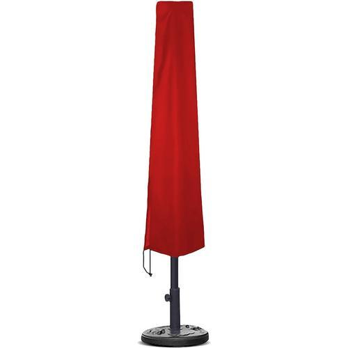 Planesium Abdeckplane für Sonnenschirm Rot 195cm x Ø 25cm / 50cm Hülle Abdeckung Schutzhülle Haube Ampelschirm