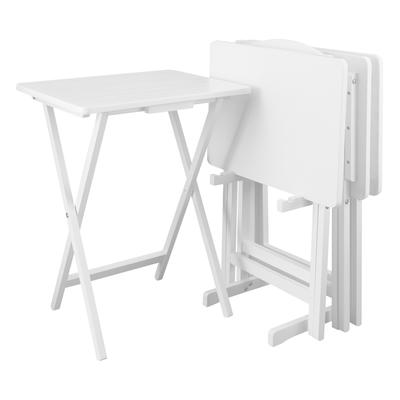 5pcs Tray Table Set - White by Casual Home in White