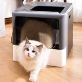 Bac à litière pliable pour chat,...