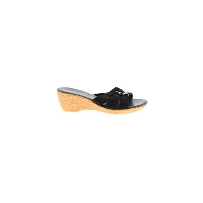 Italian Shoemakers Footwear Sandals: Black Solid Shoes - Size 8 1/2