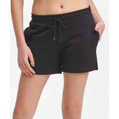 DKNY Women's Active Shorts BLACK - Black Logo Tab Pocket 5'' Shorts - Women