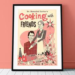 Peinture sur toile de cuisine Hannibal, affiche de livre de cuisine, cuisine avec des amis,