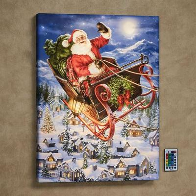 Delivering Christmas LED Lighted Print Multi Warm , Multi Warm