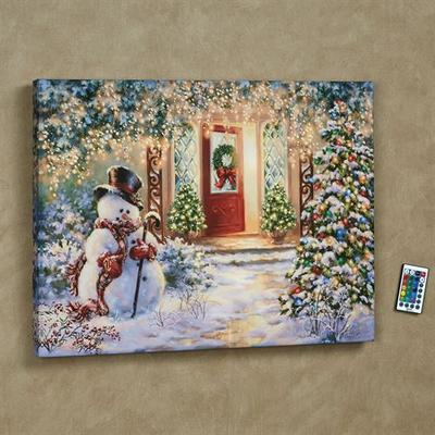 Home for the Holidays LED Lighted Print Multi Warm , Multi Warm