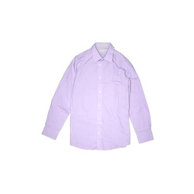 Nordstrom Long Sleeve Button Down Shirt: Purple Solid Tops - Size 12