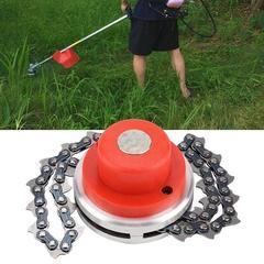 Débroussailleuse universelle avec chaîne d'épaississement pour tondeuse à gazon, outil de jardinage,