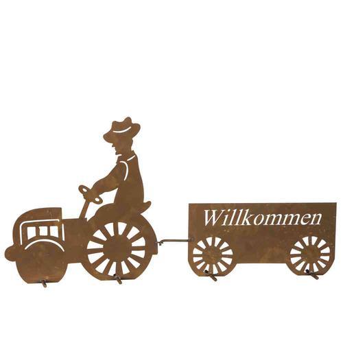 H.G-DEKO Traktorschild Willkommen Willkommensschild Traktor