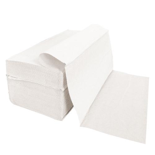 Papierhandtuch 5000 Stück 1-lagig gelegt Weiss 23x25 cm Falthandtuch Papierhandtücher Handtuch