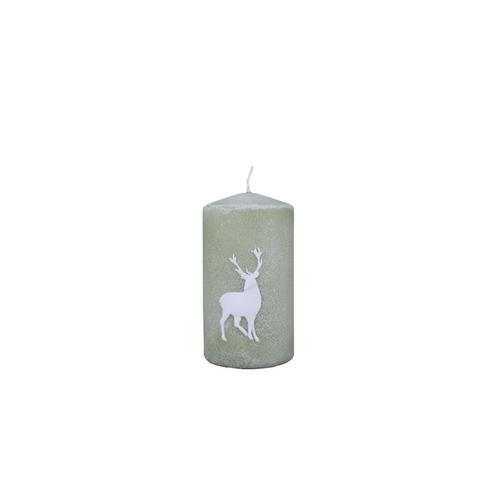 Wiedemann Weihnachtskerzen Stumpen Powder Deer Aloe Vera 130 x 70 mm, 4er Set Kerzen