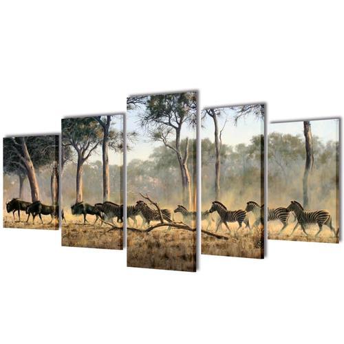 Bilder Dekoration Set Zebras 200 x 100 cm