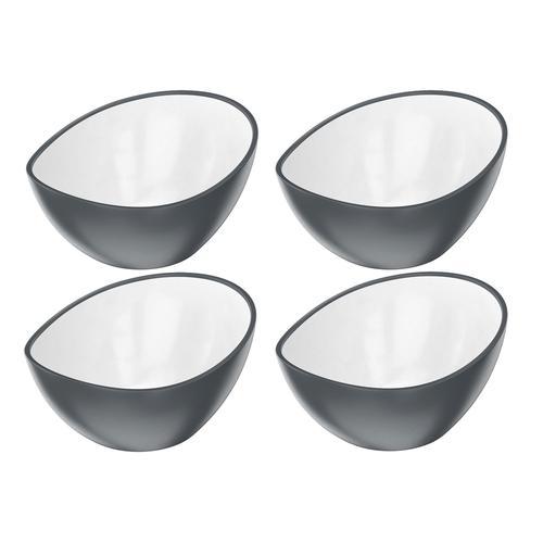 ERNESTO® Salatschüssel / Salatschalen 4er (salatschüssel 4er set/grau)
