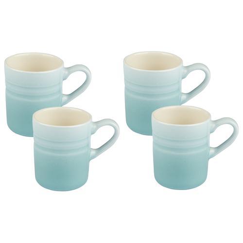 ERNESTO® Geschirr Set, aus Porzellan (blau, 4er Espressotassen)