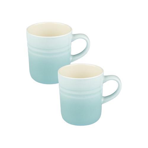 ERNESTO® Geschirr Set, aus Porzellan (blau, 2er Tassen)